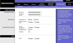 Default inksys router admin page