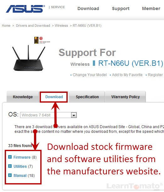 How to Update Router Firmware on the ASUS RT-N66U
