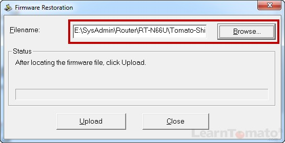 The ASUS firmware recovery utility can install or recover your router from a bad firmware installation.