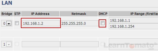 Ethernet bridge mode with DHCP disabled