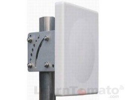 A Flat panel WiFi antenna is also directional but generally not as focused as parabolic antennas.