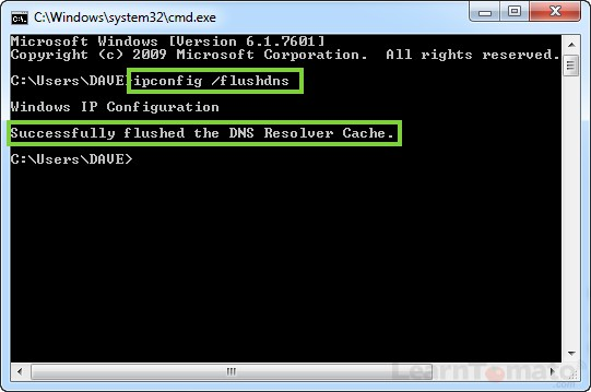 Flush DNS server resolver cache