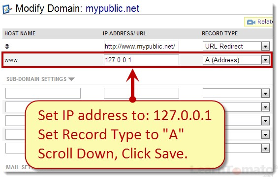 Enter a temporary host IP address. This will be updated soon once we configre the router.