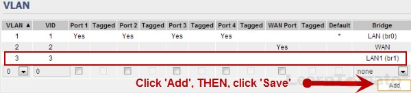 Bridge new LAN to VLAN in Tomato