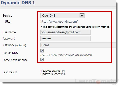 How to setup OpenDNS on your Tomato router