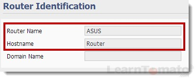 How to setup a router ID and hostname.