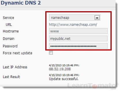 Enable Tomato DDNS for remote access to your tomato router