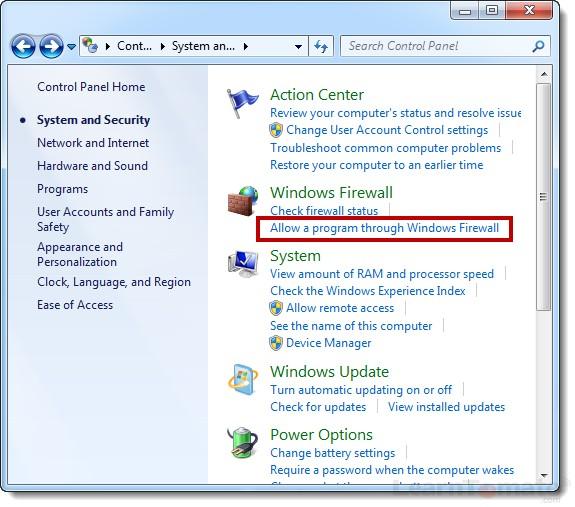 Windows VPN firewall options