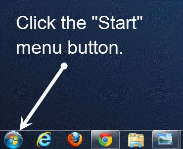 Windows 7 Start Menu Icon Button